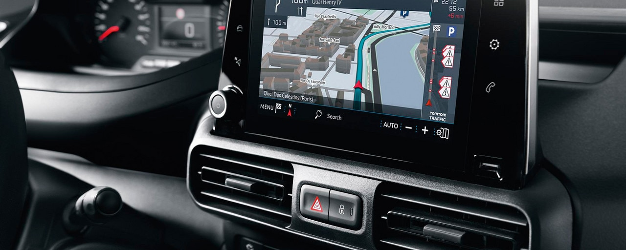 NOUVEAU PEUGEOT PARTNER navigation 3D connectée technologie Mirror Screen écran tactile 8""