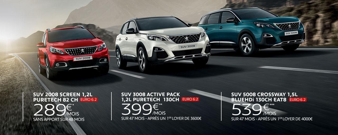Offres Rencontres SUV Peugeot